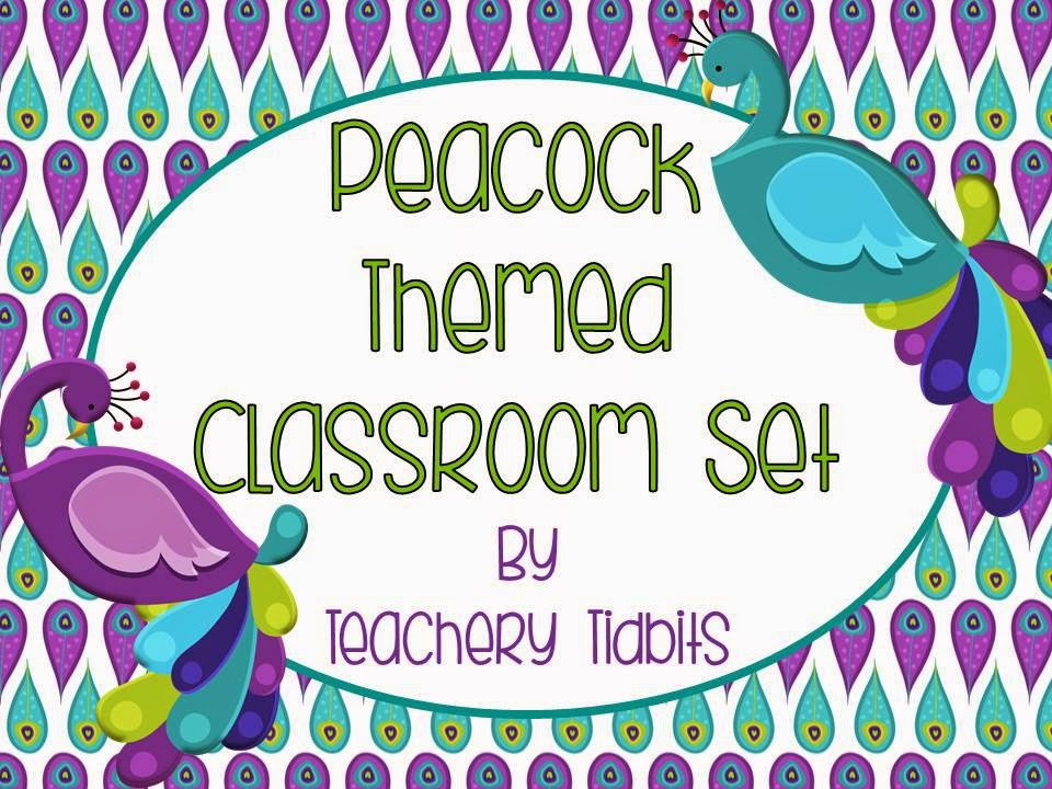 http://www.teacherspayteachers.com/Product/Peacock-Themed-Classroom-Set-EDITABLE-1228267