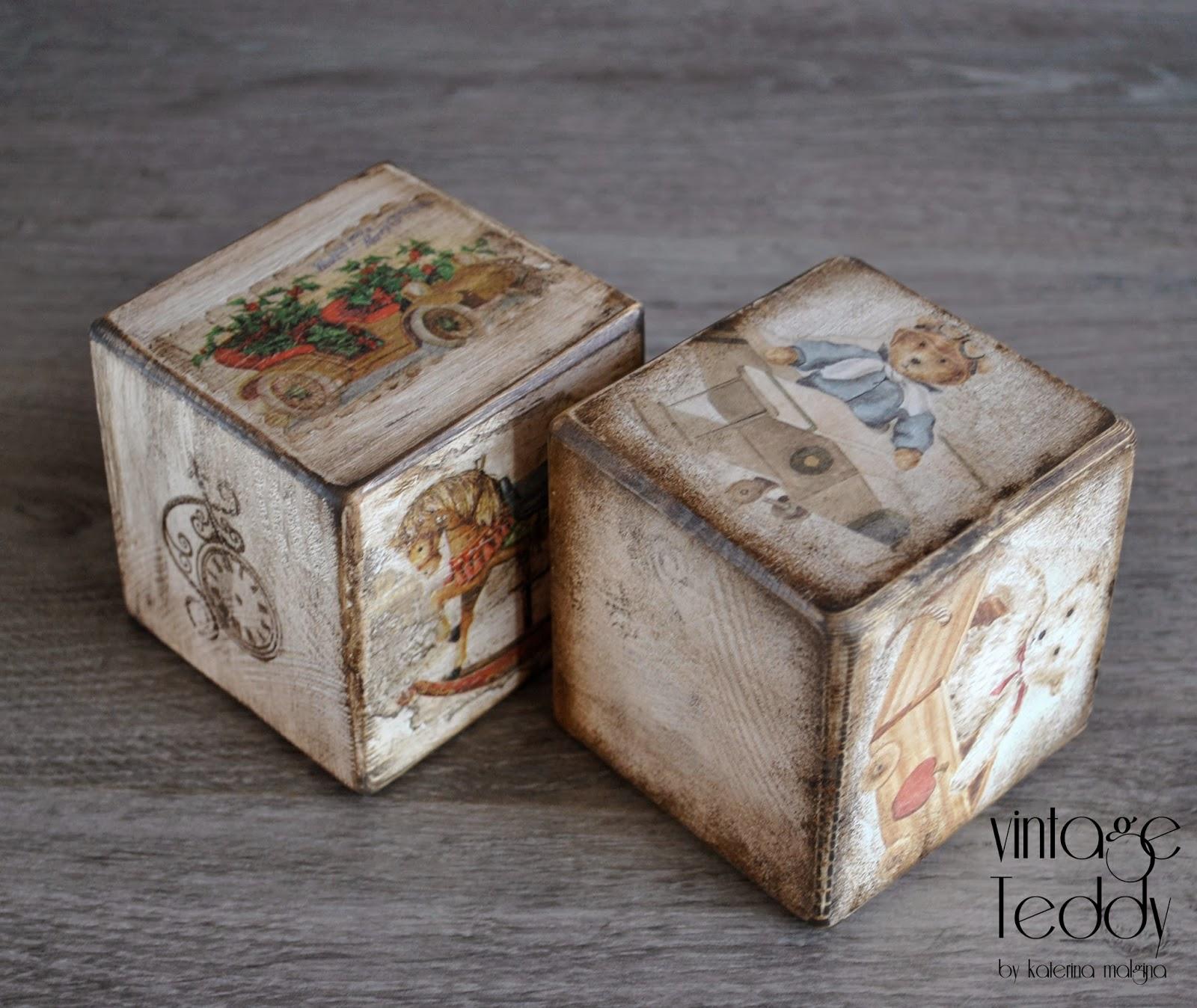 винтажные кубики