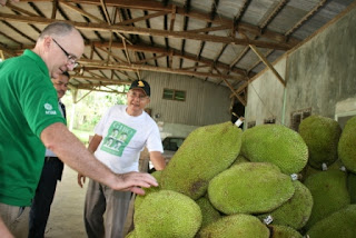 man with jackfruit