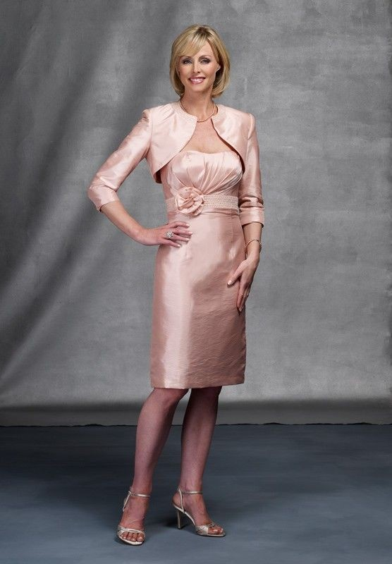 mother of the bride dress with matching bolero jacket