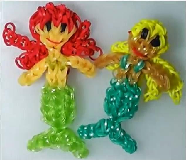 Cómo hacer la sirenita princesa Ariel de gomas