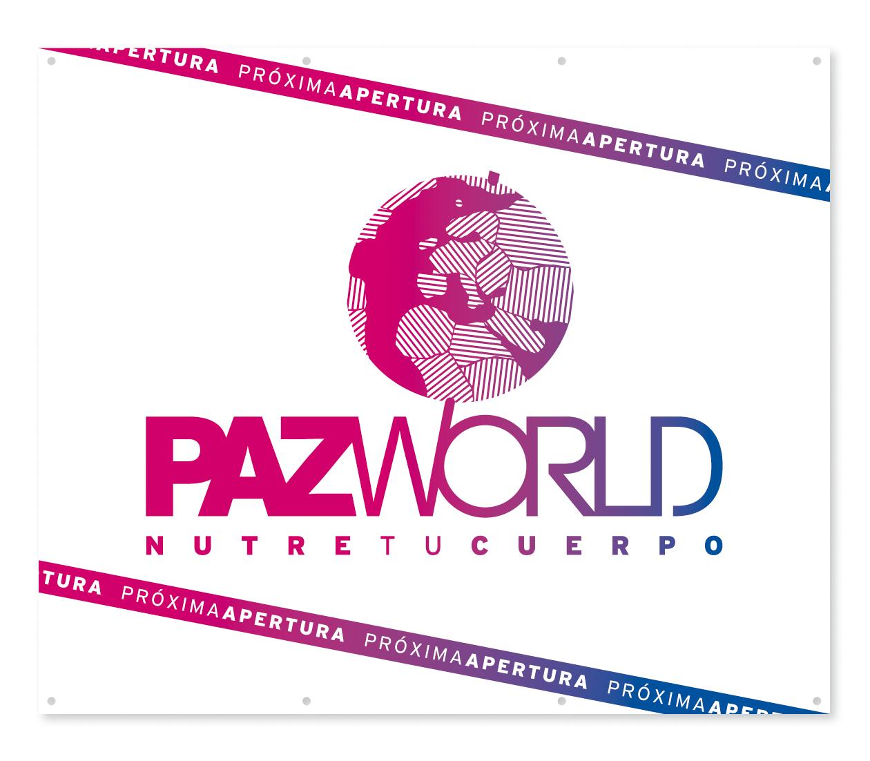 Lona de obra. PazWorld