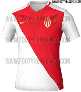 gambar detail Gambar render jersey As Monaco home terbaru musim 2015/2016