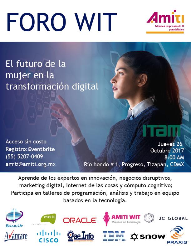 """FORO WIT """"EL FUTURO DE LA MUJER EN LA TRANSFORMACIÓN DIGITAL"""""""