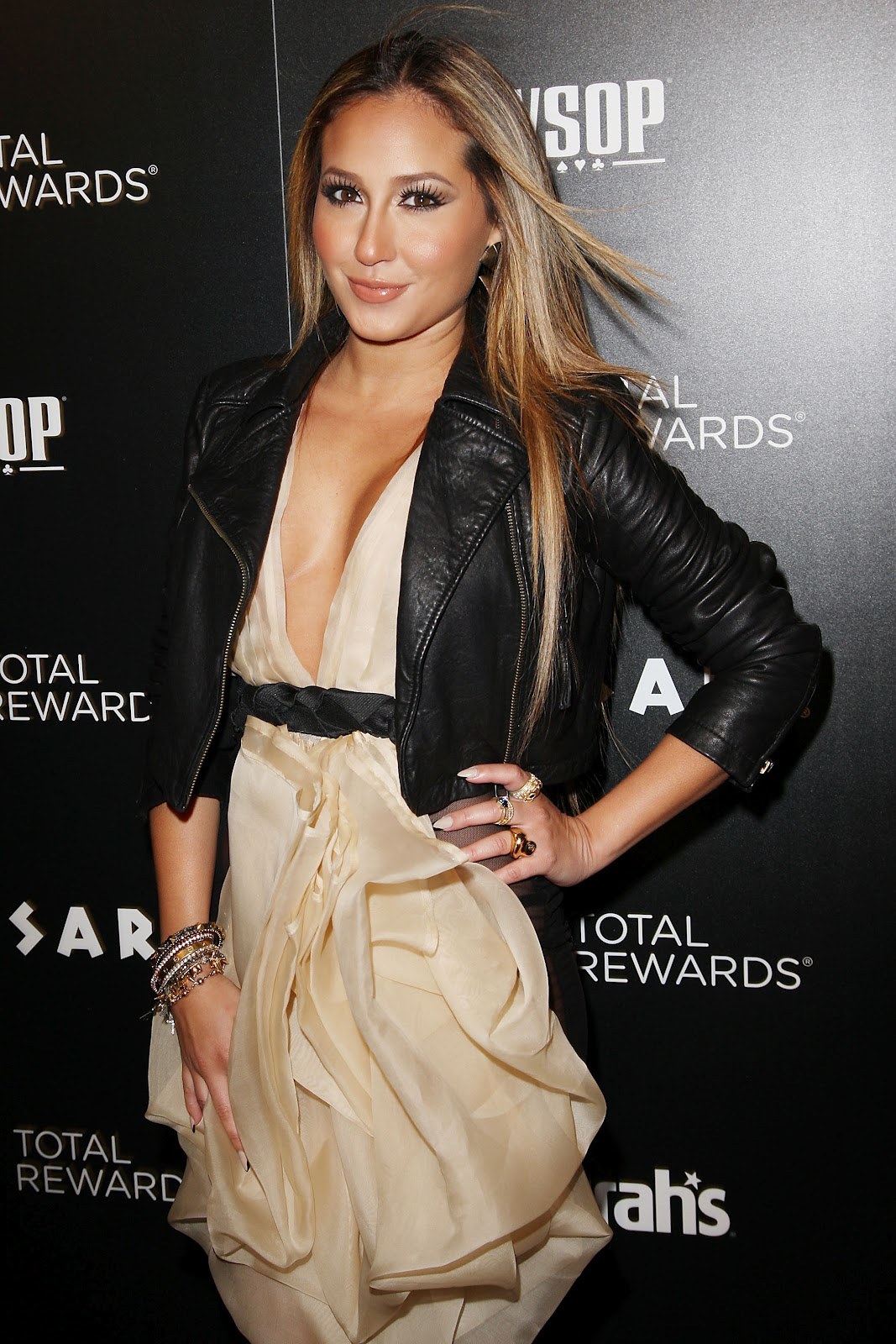 Adrienne Bailon Flashing The See Through Dress Pantyless