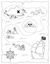 Modest image pertaining to free printable treasure map