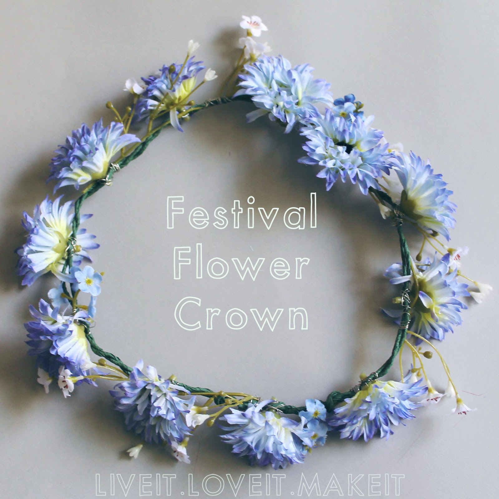 Live it love it make it make it festival flower crown with one of the great things about being bloggers is being able to try out lots of ideas and being able to show you guys how to make them too the especially fun izmirmasajfo
