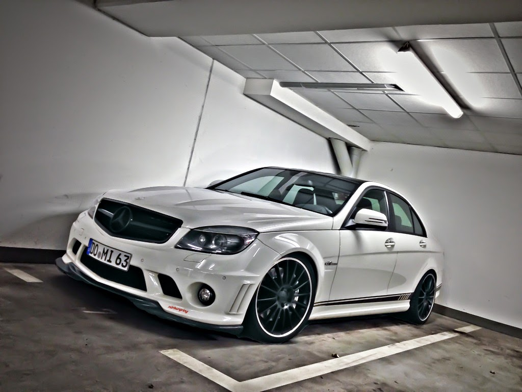 mercedes benz w204 c63 amg white on black wheels benztuning. Black Bedroom Furniture Sets. Home Design Ideas