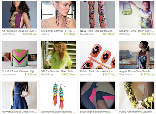 Neon Fashion on Etsy