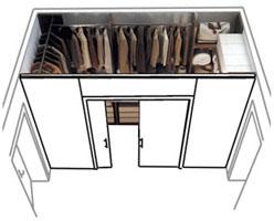 La casa in vetrina angoli spogliatoio e cabine armadio - Cabina armadio con finestra ...