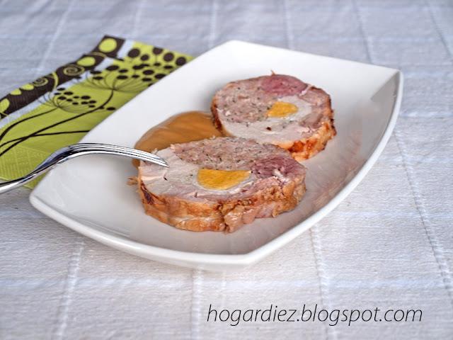 Receta redondo de pollo relleno tradicional y chef o matic pro