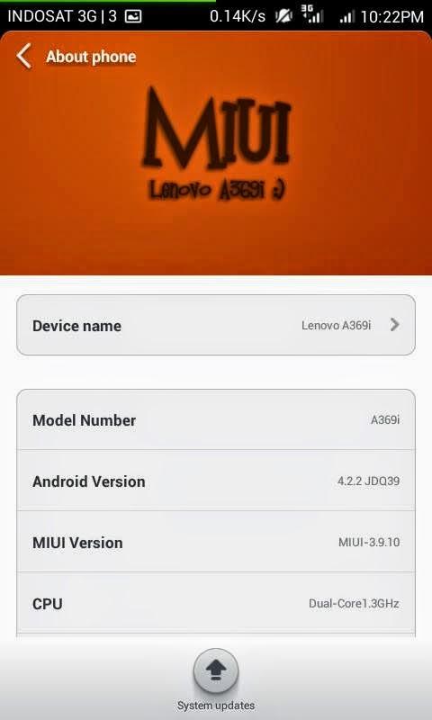 Install ROM MIUI V5 di Lenovo A369i | Mudah namun tetap Elegan!