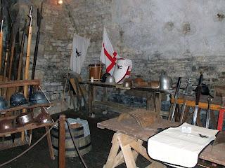 Castle Bolton armoury Britain