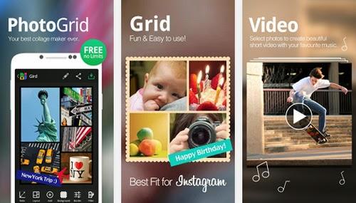 Realiza fabulosos collages con Photo Grid en tu telefono movil