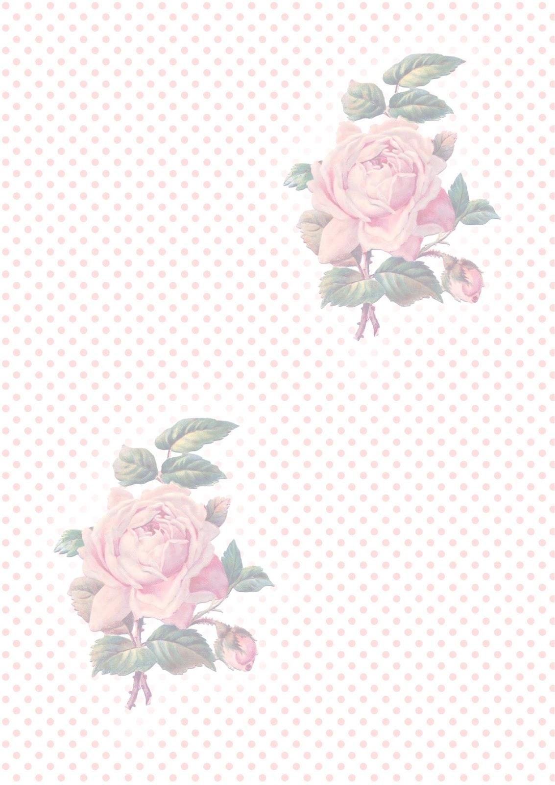 Free printable vintage rose papers - ausdruckbares Geschenkpapier ...