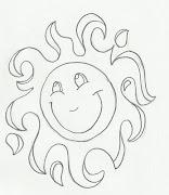 Desenho de sol para pintar. Desenho de sol para imprimir e colorir em sua .