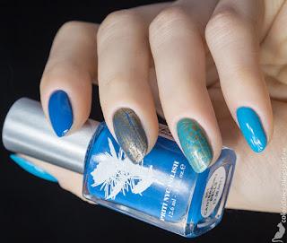 Priti NYC Chilean Blue Crocus + Canterbury Bells + Sephora Nail Designer #04