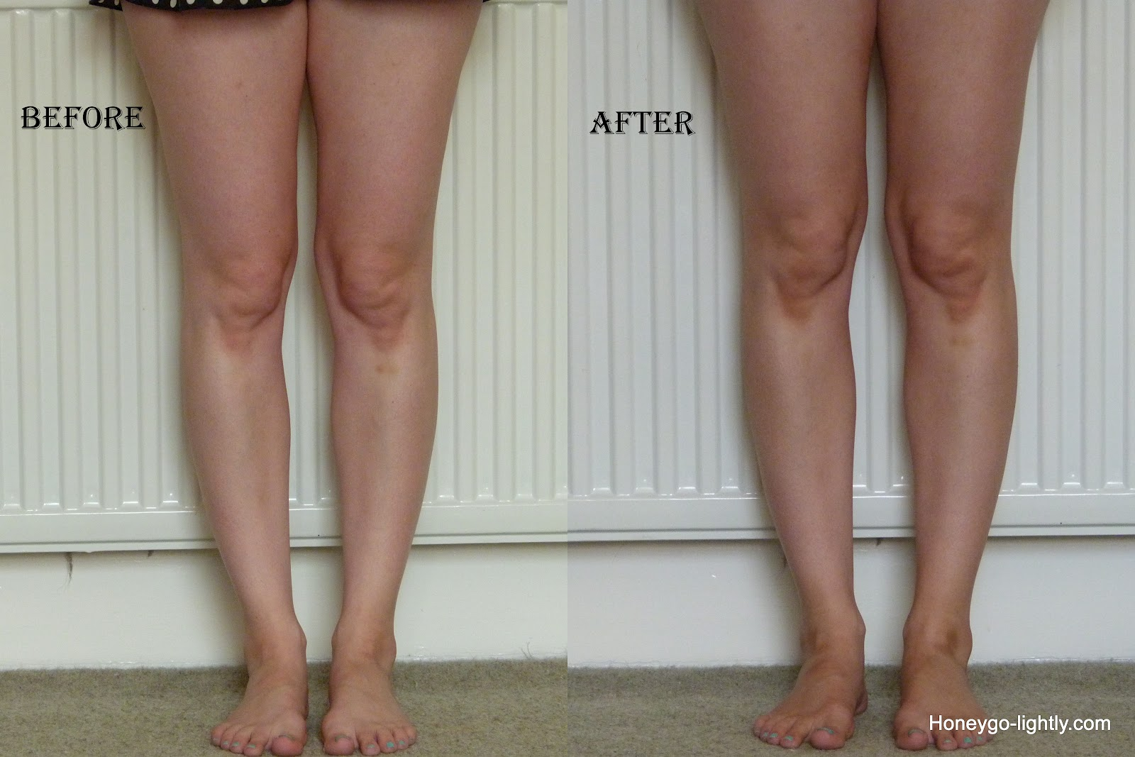 St Tropez Perfect Legs Self Tan Review Honey Go Lightly