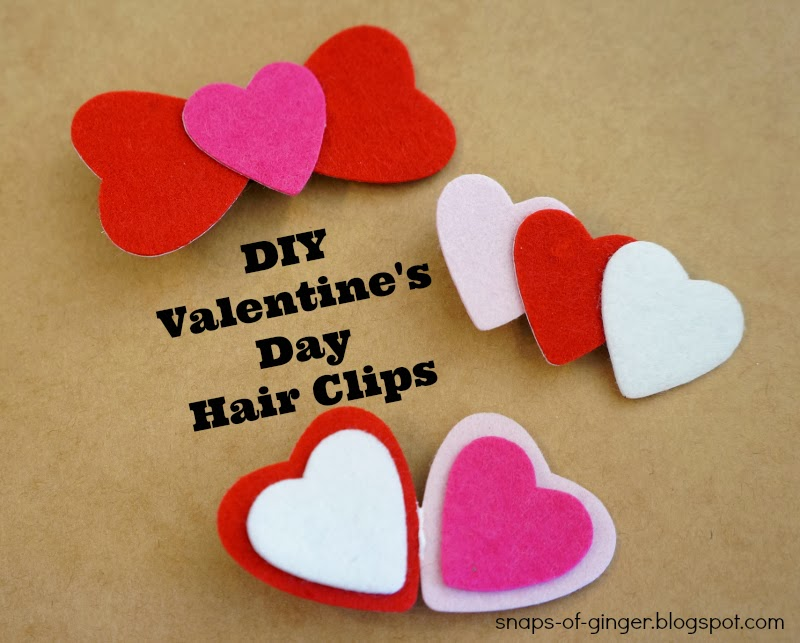 DIY Valentine Heart Clips