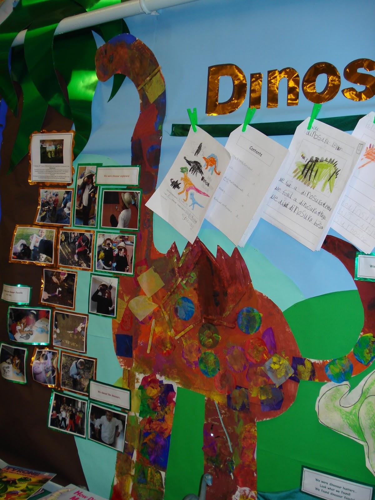creative teaching displays  dinosaurs classroom display