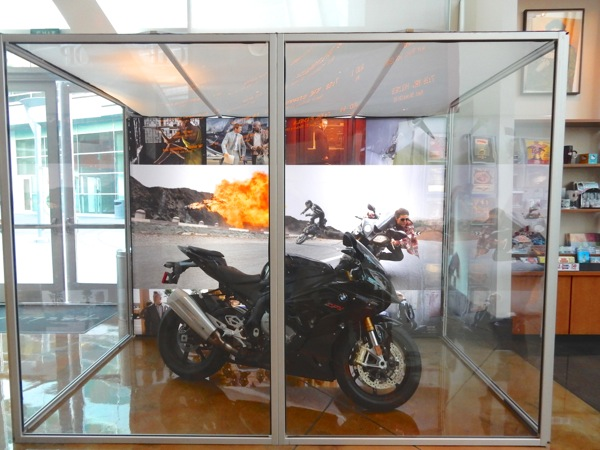 Mission Impossible Rogue Nation movie motorbike exhibit