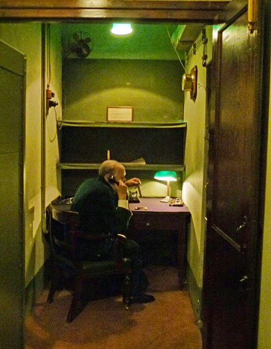 Transatlantic telephone room, Churchill War Rooms