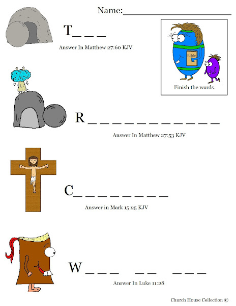 Free Printable Bible Easter Worksheets
