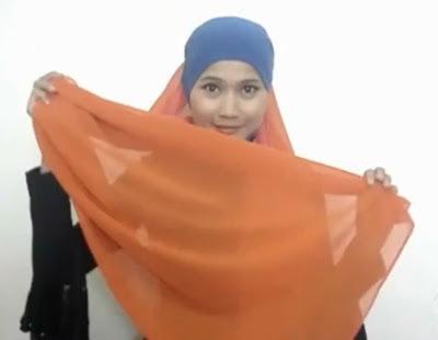 Tutorial hijab Untuk Wanita Hanya Dengan Seutas Tali Part 2