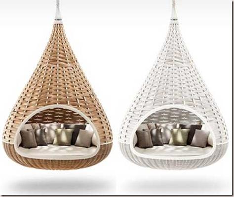 Arte y arquitectura camas colgantes para el jardin for Objetos decoracion jardin