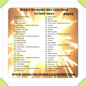 Deadly Bloggers Challenge