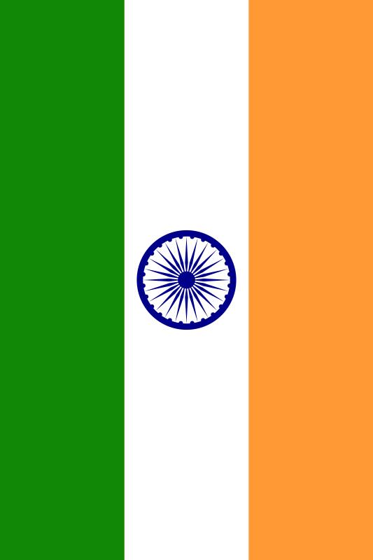bandera de India para imprimir
