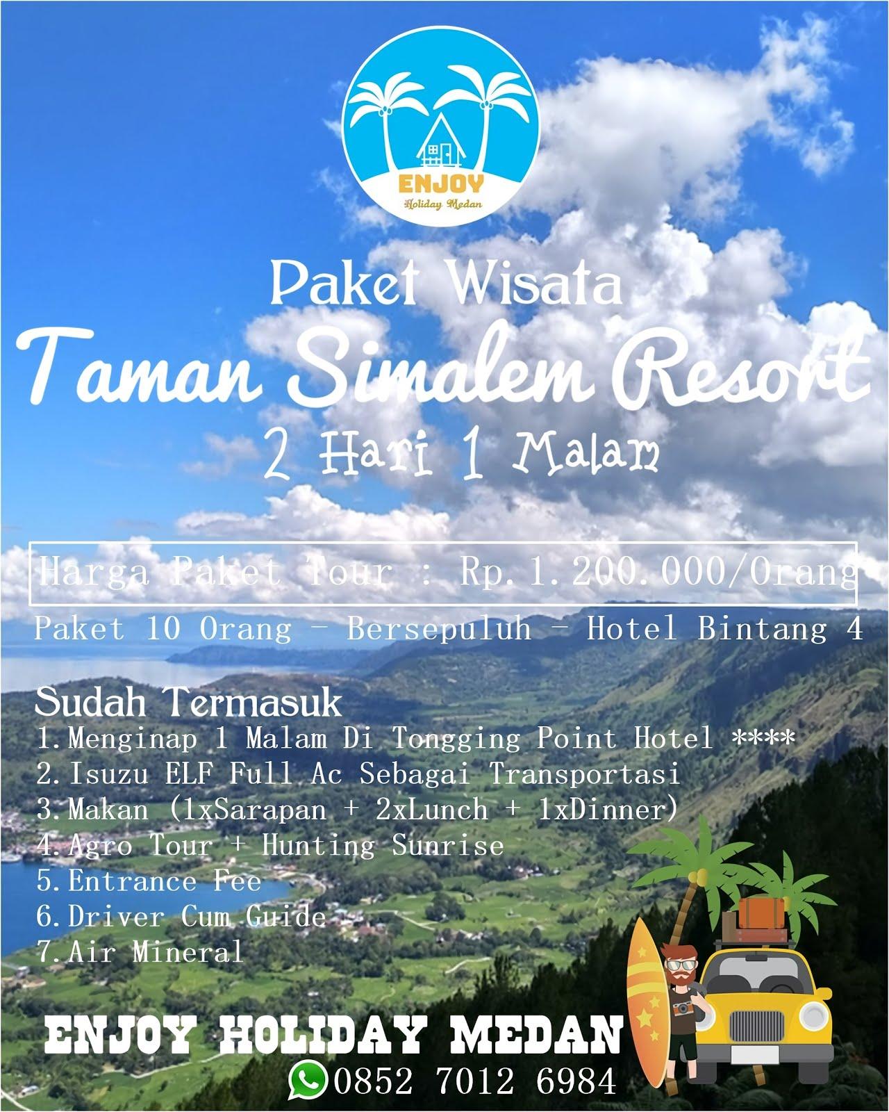 Paket Tour Taman Simalem Resort 2 Hari 1 Malam - BERSEPULUH
