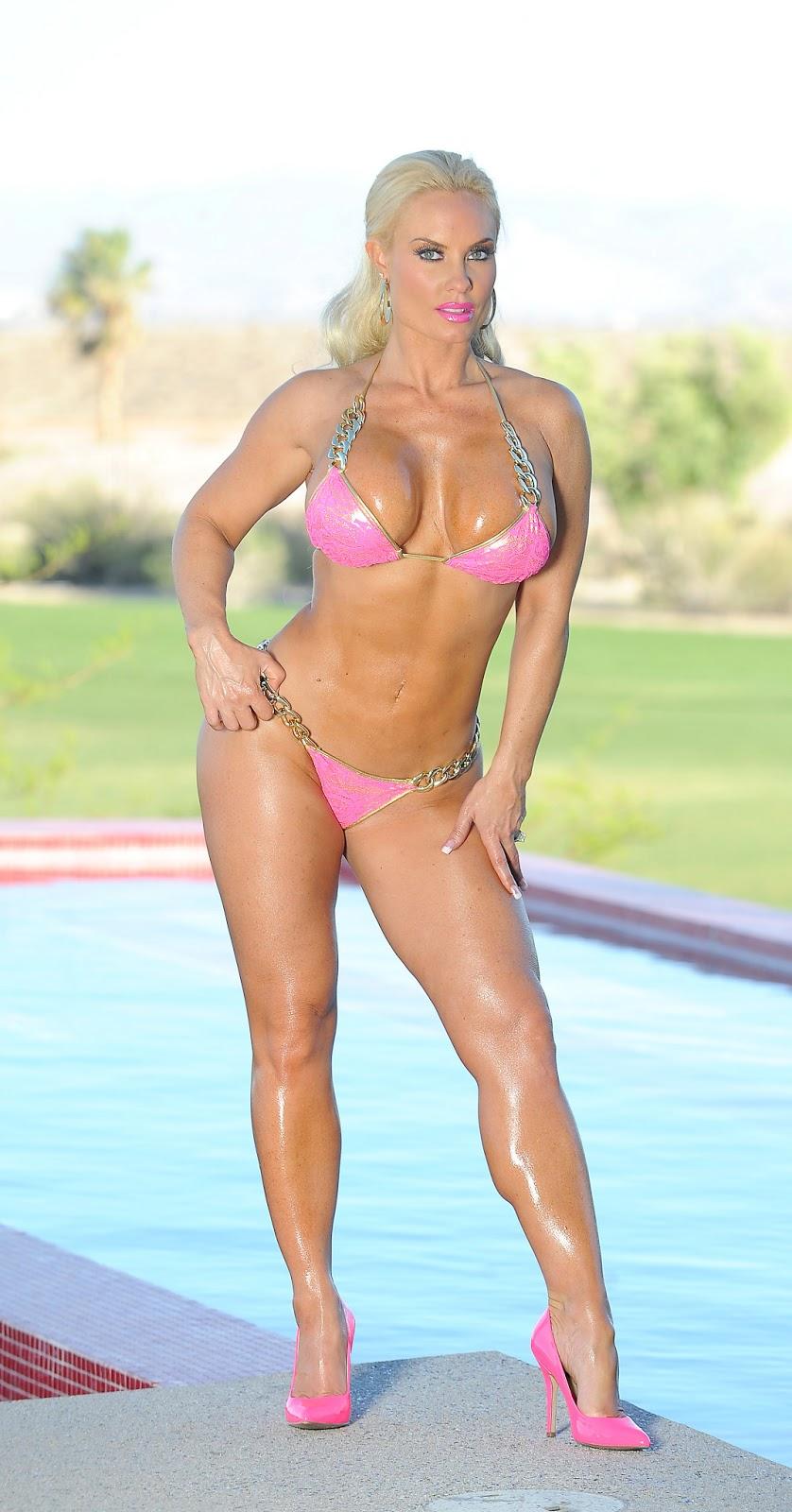 same sex couples: Coco Austin - Pink Bikini Photoshoot