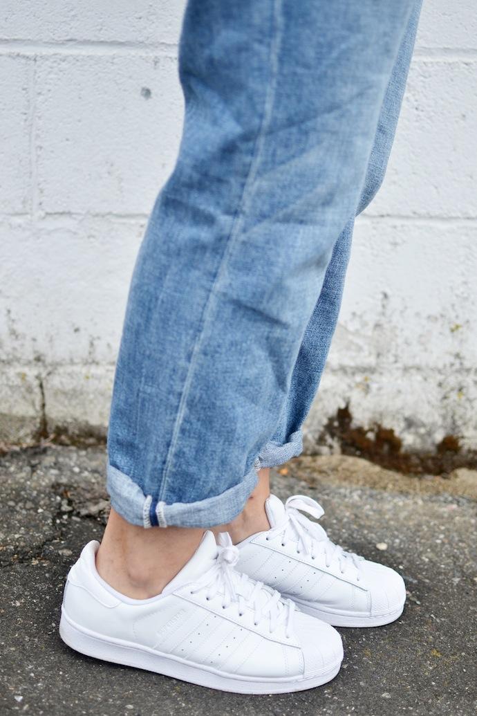 Adidas three stripe shoes