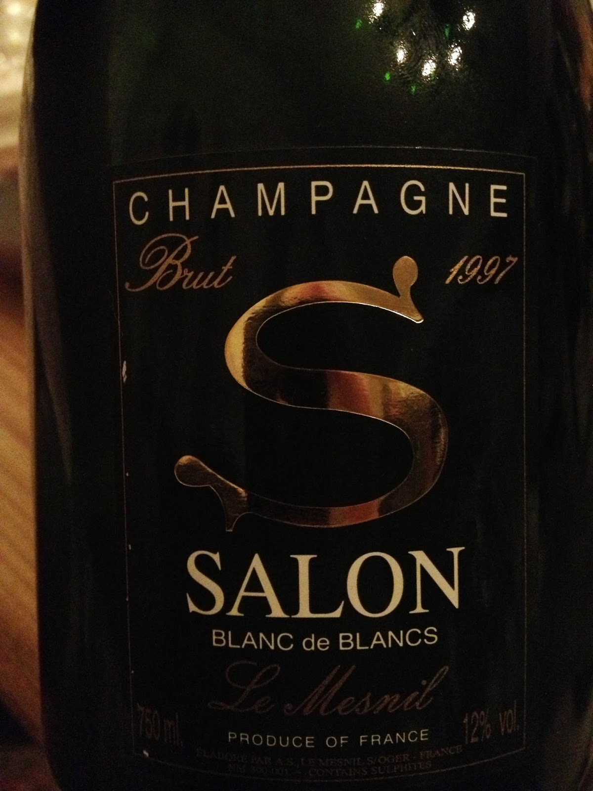 My wines and more 97 salon 04 domaine leroy vega for 1997 champagne salon