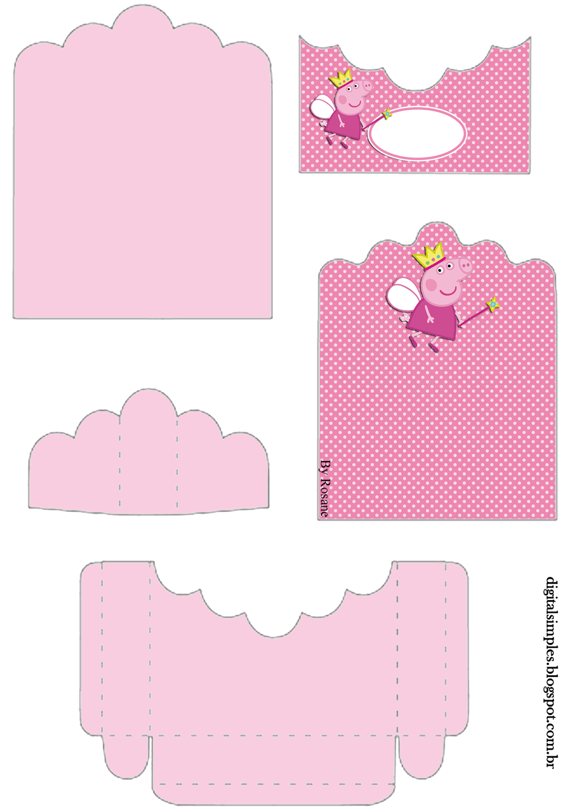 Peppa Pig Fairy: Free Printable Candy Package Supports. | Oh My Fiesta ...