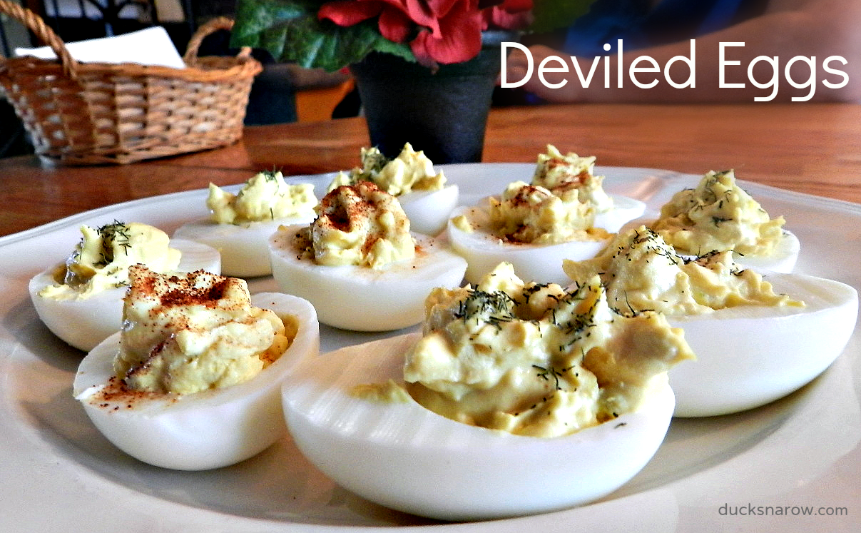 Easy to make, classic deviled egg recipe! #deviledeggs #eggs #recipes #lowcarb Ducks 'n a Row
