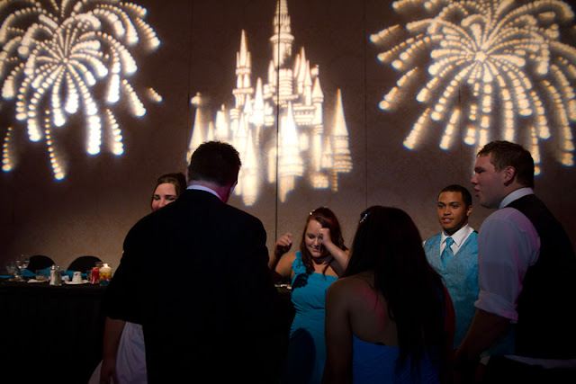 Walt Disney World Wedding with Fireworks and Castle GOBO