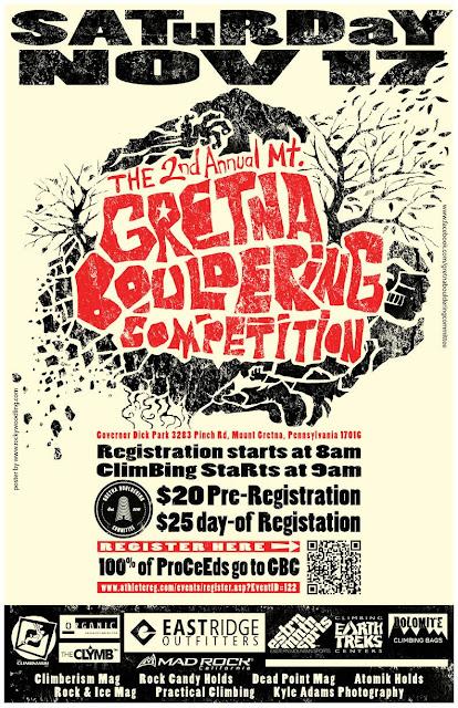 2012 Gretna Boulder Competition Poster
