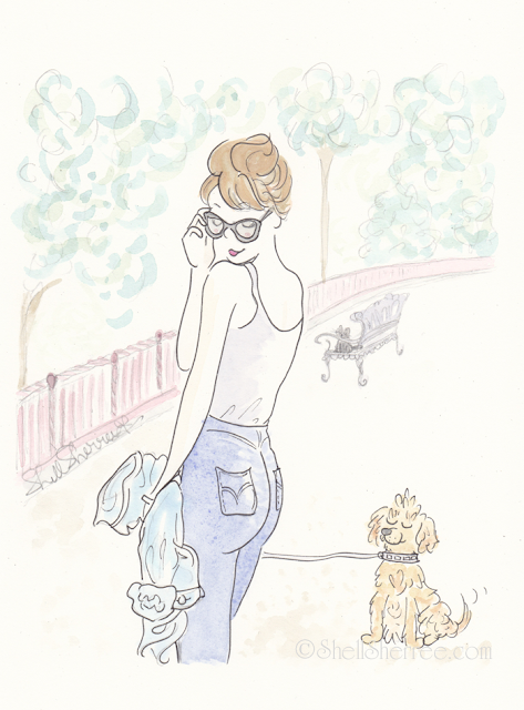 Fashion and fluffballs illustration :  If the Jeans Fit © Shell-Sherree