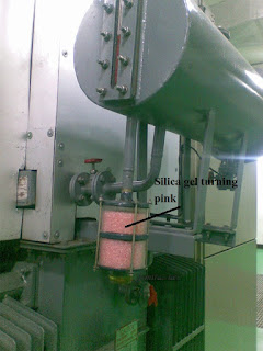 Silica gel breather mounting in Transformer