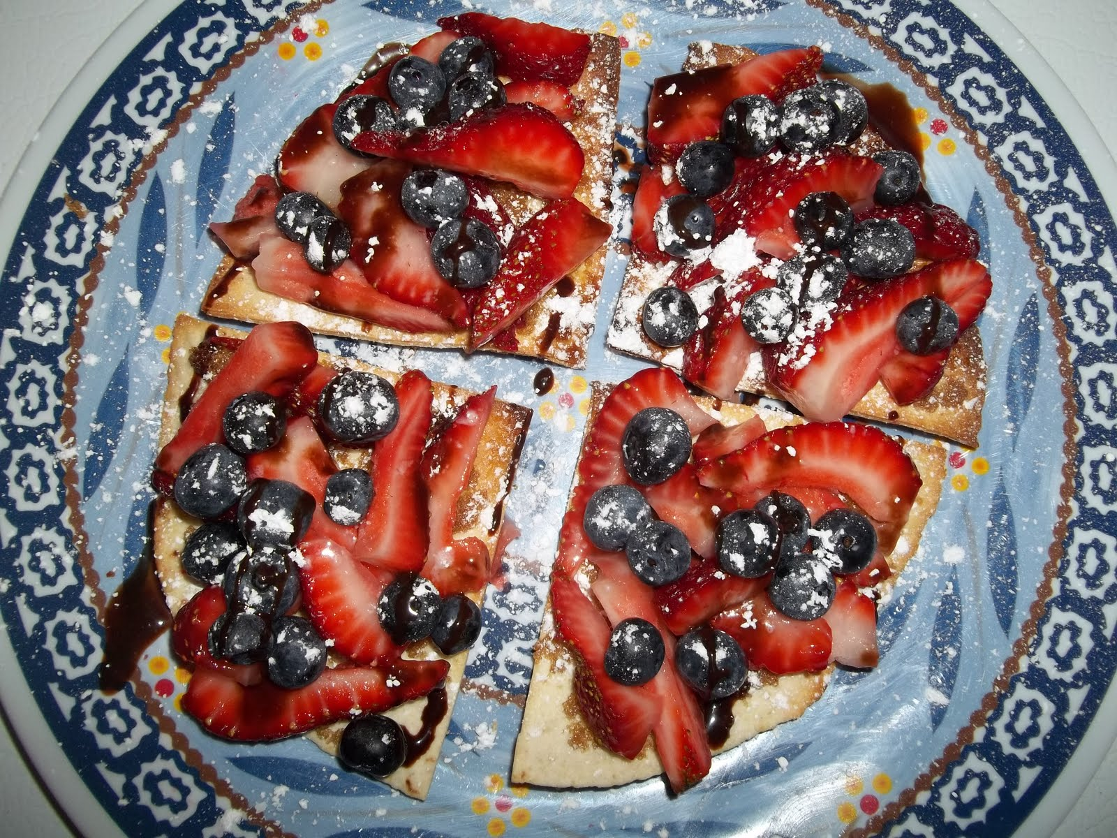 Treasure's From Life's Garden: Fourth of July Fruit Pizza