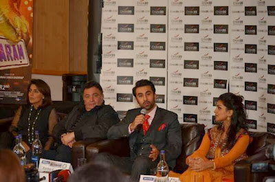 Ranbir, Rishi, Neetu, Pallavi at Besharam promotion in London