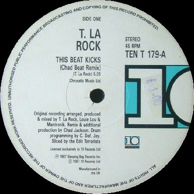 T. La Rock ‎– This Beat Kicks (Chad Beat Remix) / Having Fun / Back To Burn (VLS) (1987) (320 kbps)