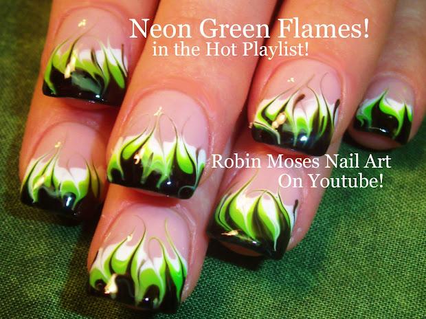 robin moses nail art neon rainbow