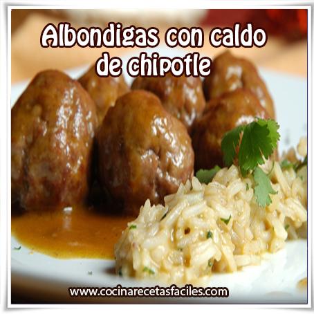 Recetas mexicanas , receta de albondigas con caldo de chipotle