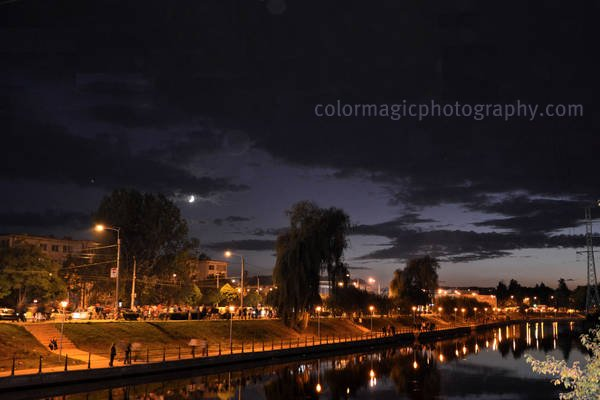 Somesul Mic river Cluj-night view