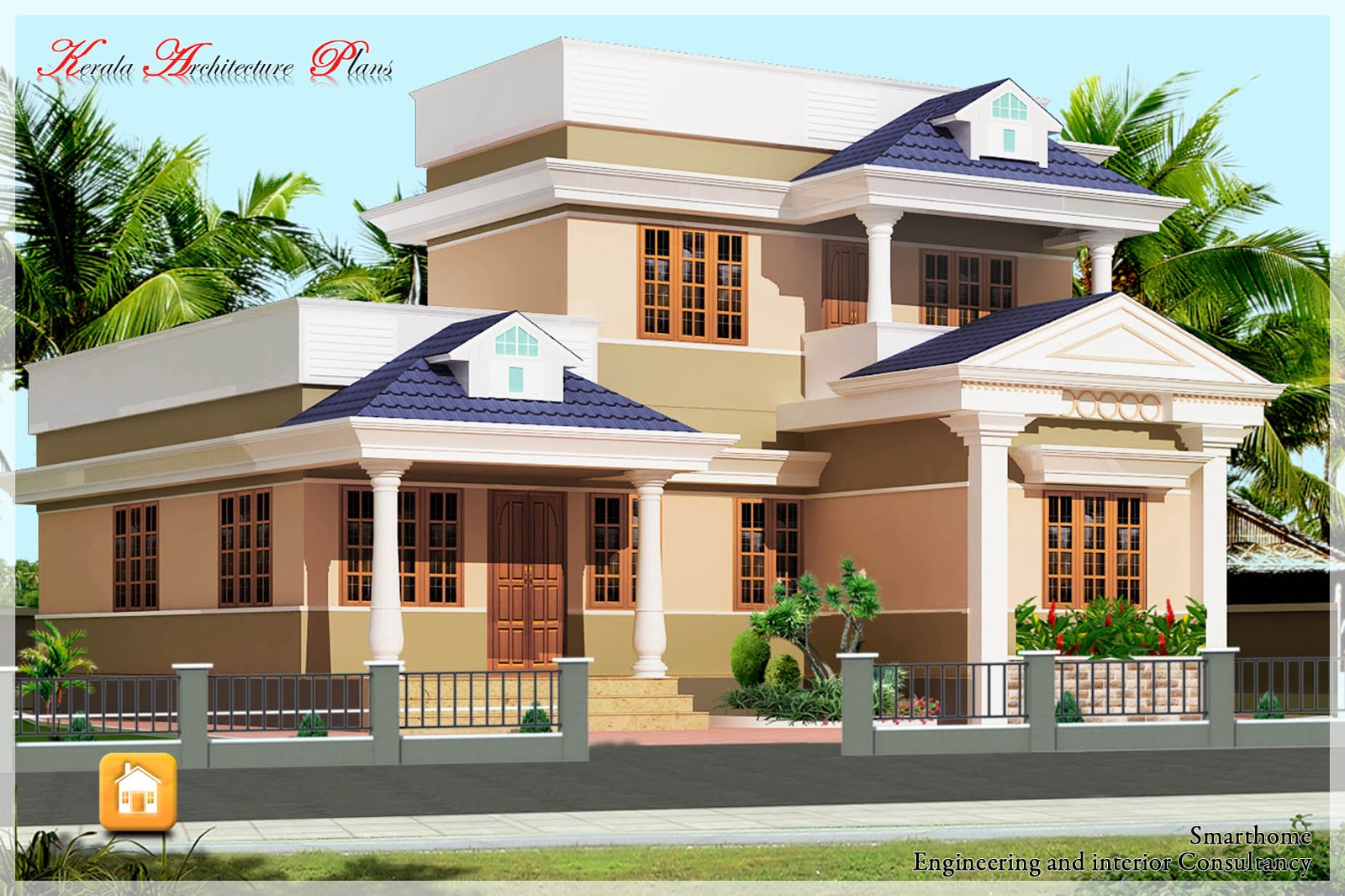 1500 square feet simple kerala plan architecture kerala for Minimalist house kerala