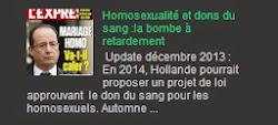 Homosexualité et dons du sang :la bombe à retardement