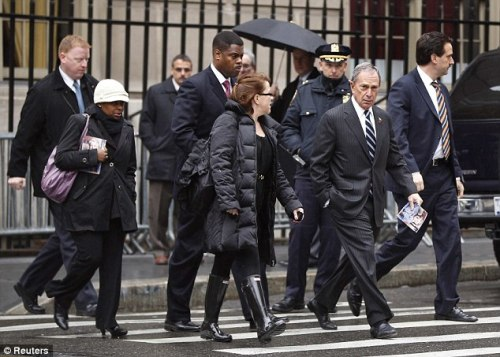 The gipster mayor mike bloomberg s armed bodyguards also carry their